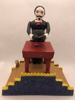 Vintage Cast Iron Mechanical Bank – Magician – Reproduction Nice Colors Works