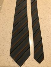 CHARLES JOURDAN Paris New 100% Silk Striped Grey Combo Tie Made in Italy