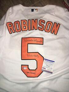 "Brooks Robinson ""Mr Oriole"" Baltimore Orioles Signed  Jersey PSA DNA"