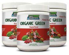 Pure Raspberry Ketone - Organic Greens Powder Berry 9.7oz - Superfoods 3C