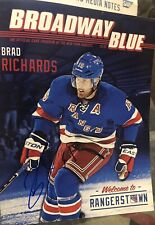 2014 Original Signed Brad Richards N.Y. Rangers Game Program