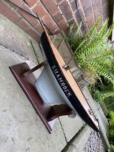 Old Antique Vintage SHAMROCK Pond Yacht.