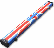 Handmade 1/2 Jointed Union Jack 2 Compartment Tournament Style Snooker Cue Case