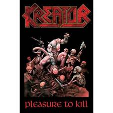 More details for official licensed - kreator - pleasure to kill textile poster flag thrash metal