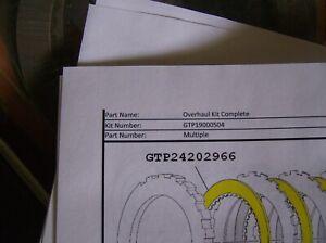GTP19000504 5717778 TRANSMISSION OVERHAUL KIT
