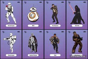 Topps Star Wars Digital Card Trader Purple 8 Card TFA Classic Art Insert Set