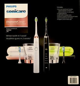Philips Sonicare DiamondClean Electric Toothbrush (HX9354/70) Gold & Black 2pk