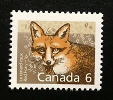 Canada #1159 Mnh, Mammal Definitives - Red Fox Stamp 1988