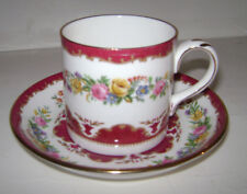STAFFORD SHIRE CROWN CHINA COFFEE TEA CUP & SAUCER REPLACEMENT SET ENGLAND RARE
