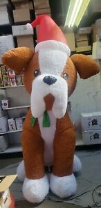 Gemmy 12ft  Plush Dog with Santa Hat Christmas Inflatable