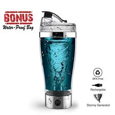 Protein Shaker Bottle, USB Rechargeable Portable 16ounce Vortex Mixer Blender