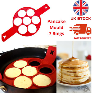 Silicone Pancakes Mould Maker Nonstick Perfect Egg Ring Omelette Cooker Pan Flip