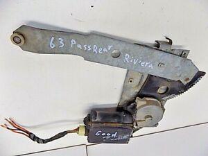 Apr 1963-1965 Buick Riviera Passenger Rear Power Window Regulator Motor Part