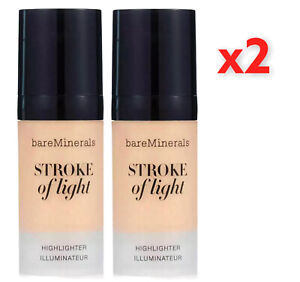 2x bareMinerals Stroke of Light Highlighter 10ml NEW FAST AND FREE DELIVERY