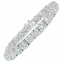 Tennis Bracelet Real 925 Sterling Silver & 18.00ct Total Weight White Round CZ
