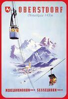 Obersdorf Nebelhornbahn Sesselbahn Oberallgäu Schild Tin Sign 20 x 30 cm F0217-X