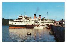 Canada Steamship Lines SS TADOUSSAC Croisière du Saguenay Quebec Canada