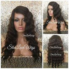 Light & Dark Brown Body Wave Lace Front Wig Highlights Layered Heat Safe Ok