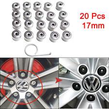 20 Wheel Bolt Nut Cap Cover For Volkswagen VW Golf Bora Passat Jetta 17mm Chrome