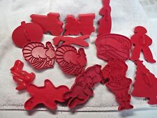 14 LK Mfg Corp Cookie Cutter Red Plastic Different Holidays