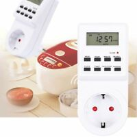 Digital LCD Display Smart Plug-in Programmable 12/24 Hour Timer Switch Socket