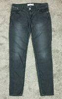 Roxy 1015 Women's Flap Pocket Low Rise Skinny  Jeans Pants Black/Silver  Sz 9