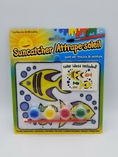Suncatcher Painting Fish 4 Paint Set with Brush Kids Arts and Crafts Hobby Gift