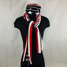 VINEYARD VINES Red White Blue Knit Winter Hat And Scarf Red White Blue One Size