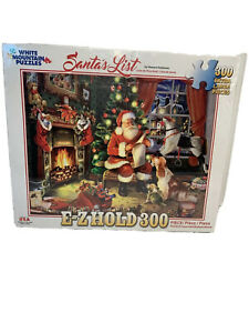 "NEW White Mountain 300 Large Piece E-Z Grip Puzzle ""Santa's List"" 18""x24"""