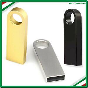 ✅ PENDRIVE USB METALLO CHIAVETTA 32 64 GB 128 GB MEMORIA PORTA CHIAVE A001 ✅