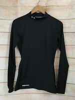 Under Armour Mens Coldgear Long Sleeve Fitted Compression Mock Top Small Shirt