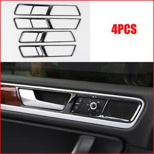 For VW VolksWagen Touareg 2011-2018 Black titanium Inner Door Handle Frame Trim