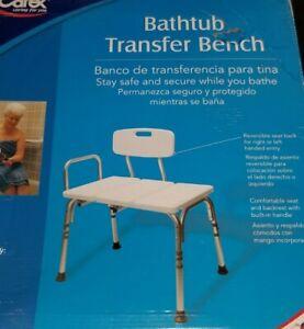 CAREX Adjustable Bathtub Transfer Bench