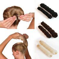 2pcs Magic Foam Sponge Donut Bun Hair Styling Maker Former French Twist Tool UK