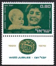 Israel 431 tab, MNH. WIZO,Women's Intl. Zionist Org.50th ann.Mother & Child,1970