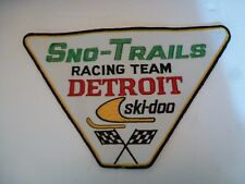Vintage Ski Doo patch Sno-Trails 60s 70s Big NOS Antique Snowmobile Racing Team