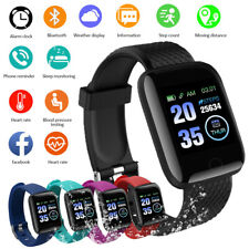 Smart Watch Bluetooth Heart Rate Oxygen Blood Pressure Sport Fitness Tracker 116