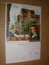 Heilbronn 1899 Kaiserstraße mit Käthchen schön