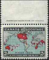 Canada #86b mint VF+ OG HR 1898 Map 2c black,deep blue & carmine CV$112.50