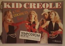 Kid Creole and the Coconuts  tour   Original Concert  poster