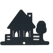 Rustic Cottage Vintage Collectible Black Metal Silhouette Wall Sign Plaque Decor