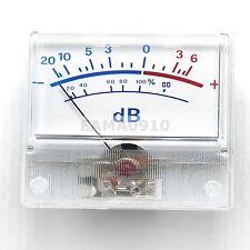 VU table header audio level meter DB power sound pressure P-55 130uA