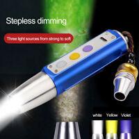 3 in 1 UV White Yellow LED Gem Torch Jade Flashlight for Gemstone Appraisal Lamp
