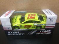 Ryan Blaney 2018 Menards #12 Penske Fusion 1/64 NASCAR Monster Energy Cup