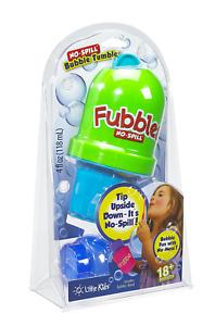 Little Kids Fubbles No-Spill Tumbler Includes 4oz Bubble Solution and Bubble May