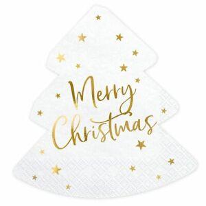Merry Christmas Tree Napkins - Christmas