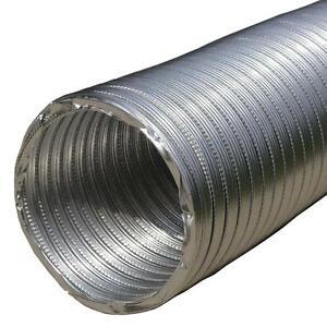 Flexible Aluminium Ducting Hose Round Ventilation Tube Flexi Duct Flexipipe