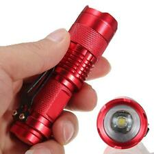 7W 1200lm CREE Q5 LED Mini Zoomable Flashlight 14500/AA Torch Red AD