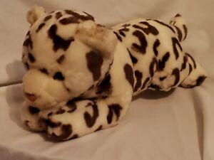 "ANIMAL ALLEY Toys R Us White Brown SNOW LEOPARD Plush Stuffed Animal 15"""