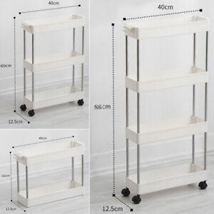 Kitchen Storage Rack Caddy Shelf Organiser Slim Slide Bathroom Trolley Holder UK